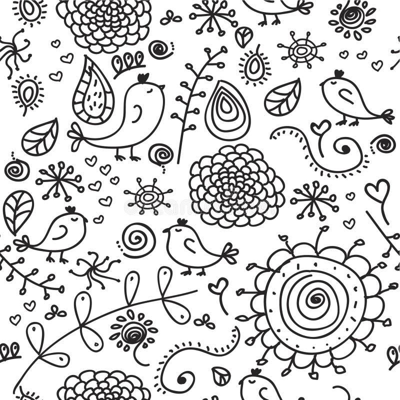 Doodles sem emenda ilustração royalty free