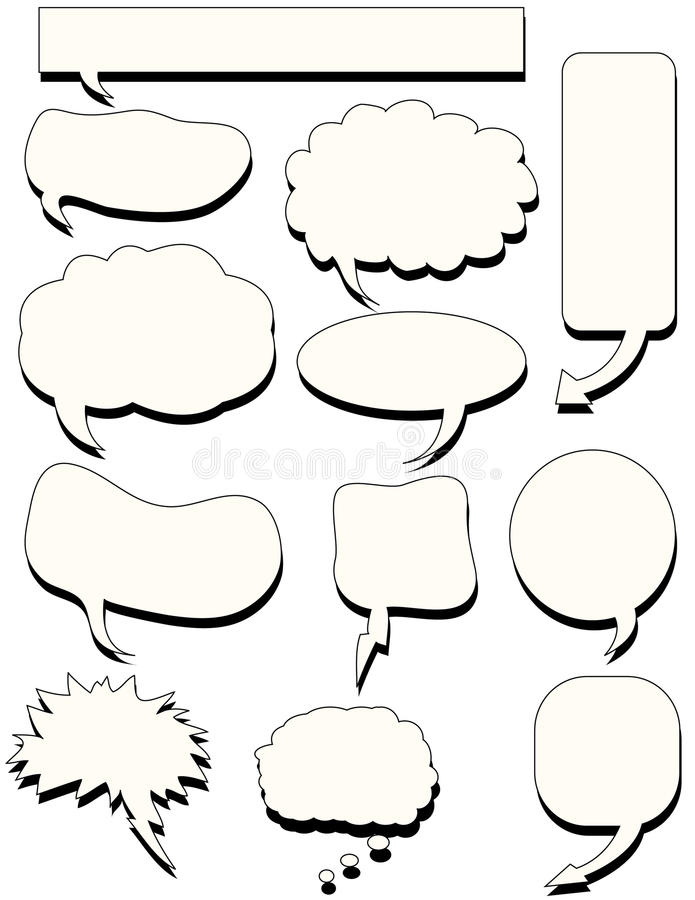 Download Doodles speech bubble talk stock vector. Illustration of illustration - 14921860