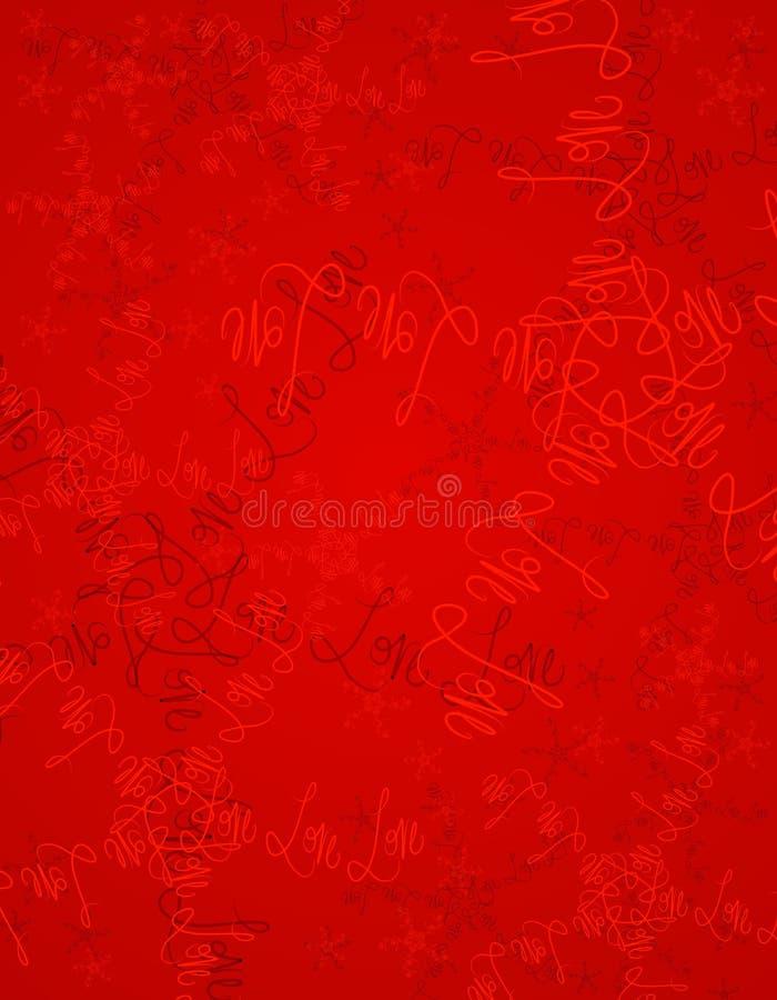 doodles tła czerwonym walentynki miłości ilustracja wektor