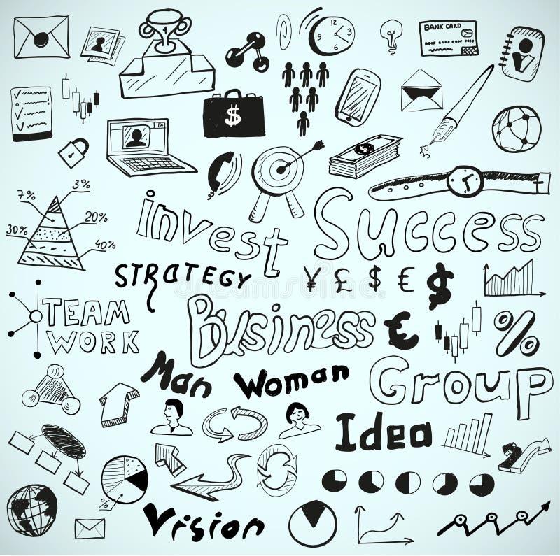 Doodles tablilla-drenados vector del vector: tema del asunto stock de ilustración