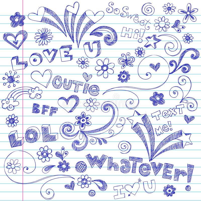 doodles target108_1_ notatnika szkicowego ilustracja wektor