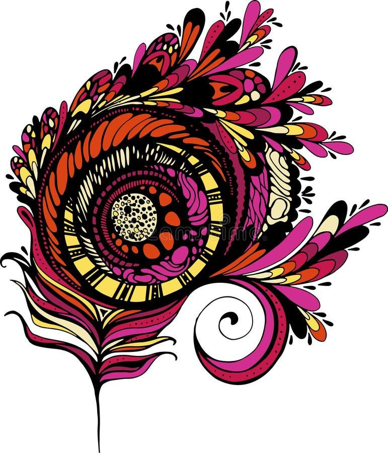 Doodling Feather stock photos