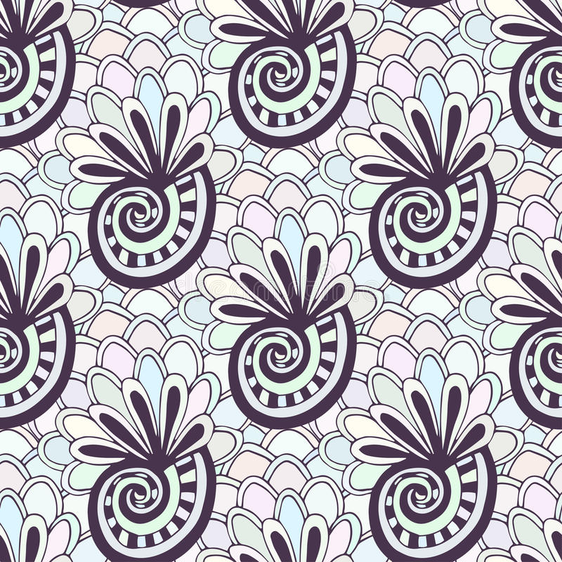 download doodling seamless pattern with seashells zentangle coloring page creative background for textile or - Zentangle Coloring Book