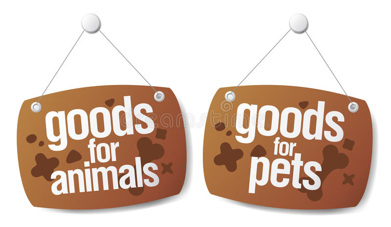 Doods for pets signs vector illustration