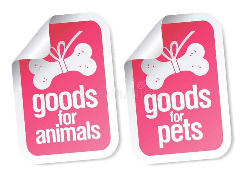 Doods voor huisdierenstickers stock illustratie