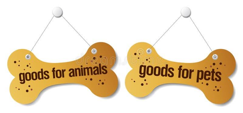 doods zwierząt domowych znaki ilustracji