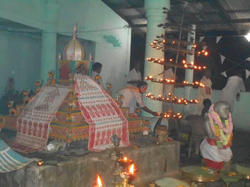 Doodsfestival van Sri-deva van mantashankar in Bishnupur Xatra royalty-vrije stock afbeelding