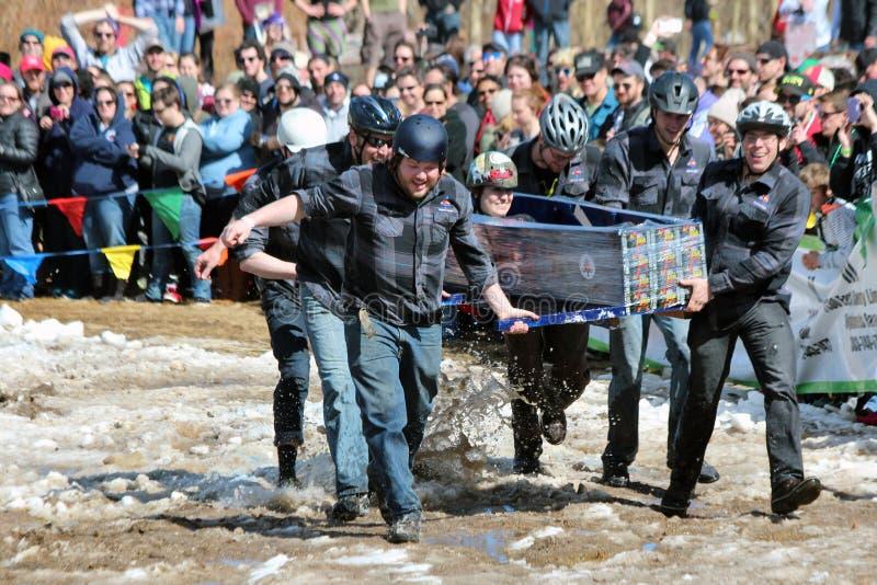 Doodskistras - Bevroren Dood Guy Days stock afbeeldingen