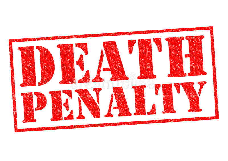 Doodstraf stock afbeeldingen