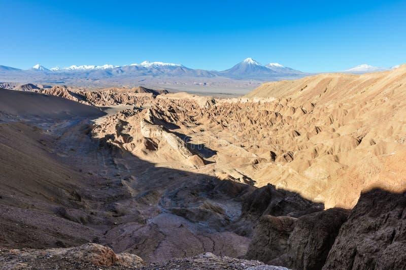 Doodsvallei in de Atacama-Woestijn, Chili stock afbeelding