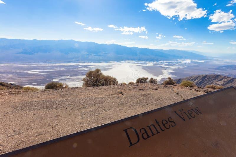 Doodsvallei, de mening van Dante royalty-vrije stock fotografie