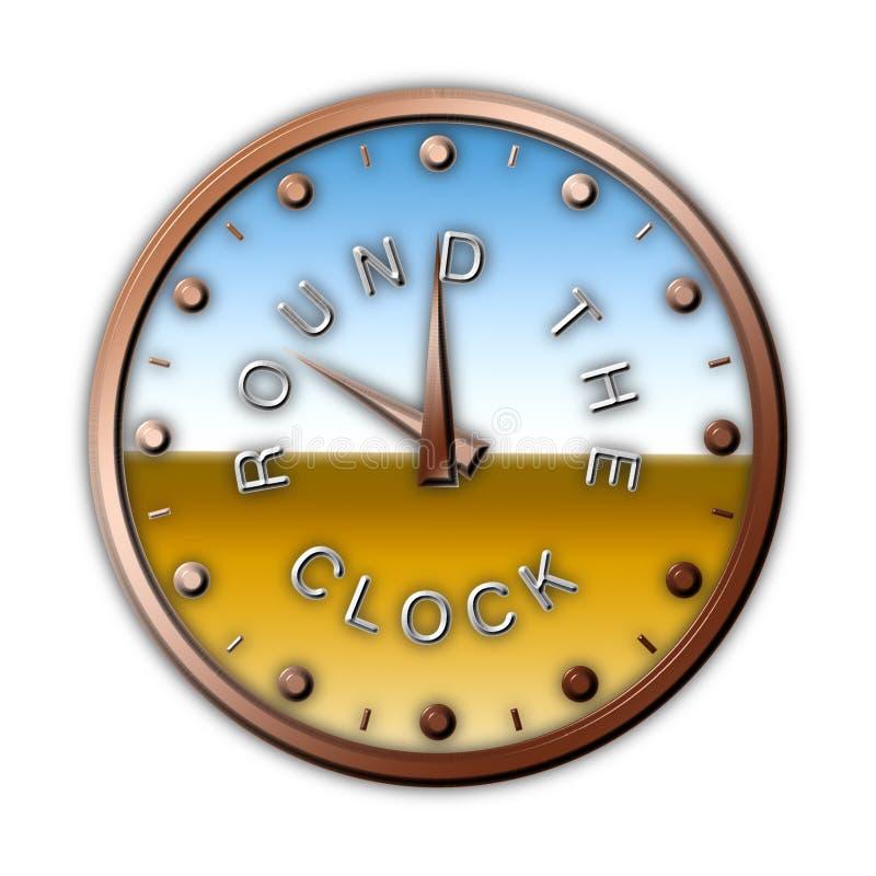 dookoła zegara ilustracji