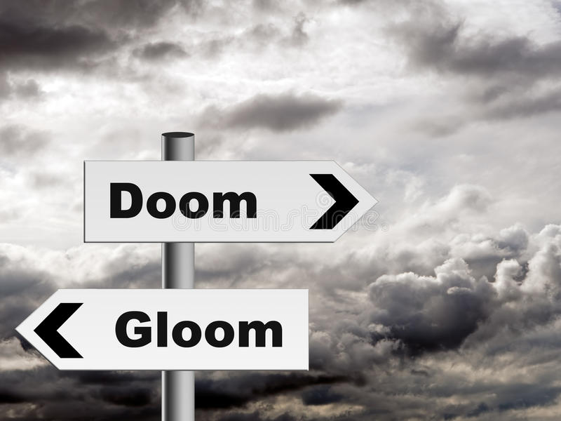Doom and gloom - pessimist outlook on life etc. royalty free stock photo