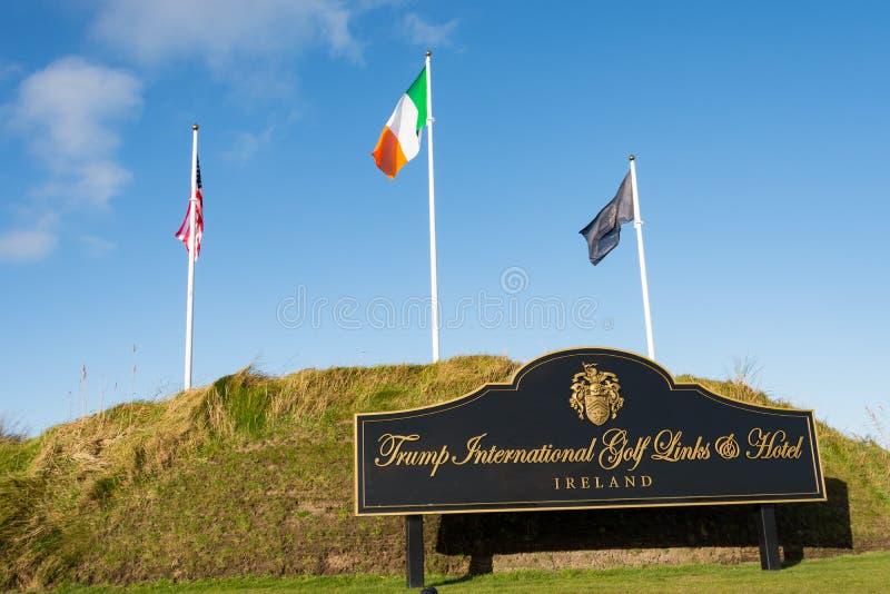 Doonbeg, Ireland - December 28th 2016: Donald Trump International Golf Links & 5 Star Hotel Doonbeg, County Clare, Ireland. Famous gold course stock photography