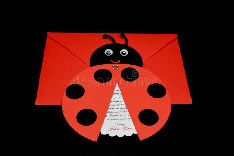 Doopsel & Doopseluitnodigingsmalplaatjes op zwarte achtergrond royalty-vrije stock afbeelding