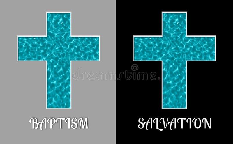 Doopsel en Reddings de Dwarsillustratie van de Waterpool vector illustratie