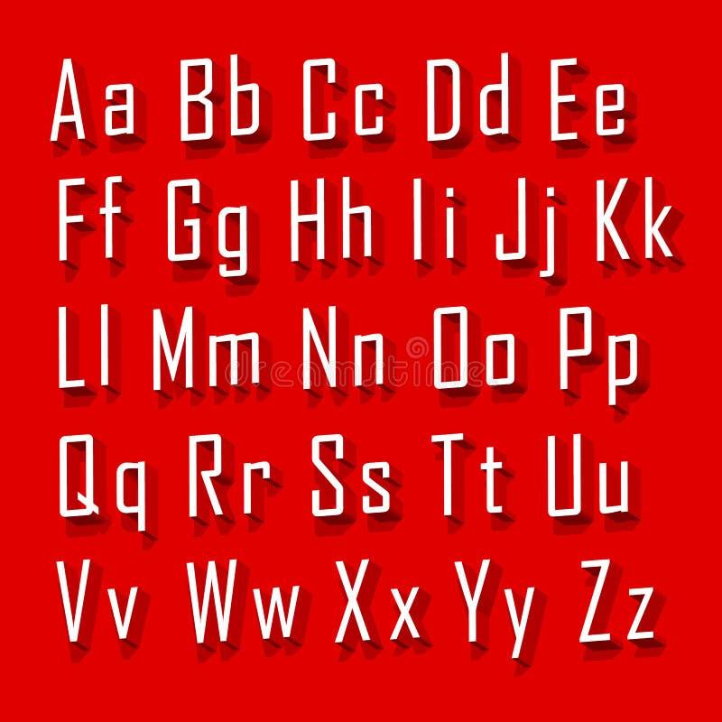 Doopvont 3d vastgestelde brief vector illustratie
