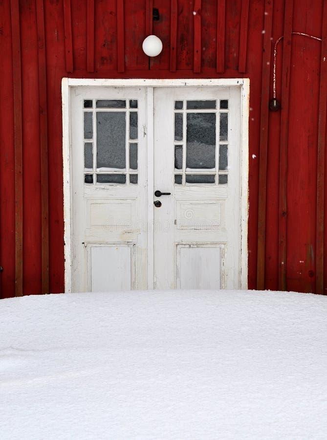 Download Door stock image. Image of sweden, house, wood, snow - 13168291