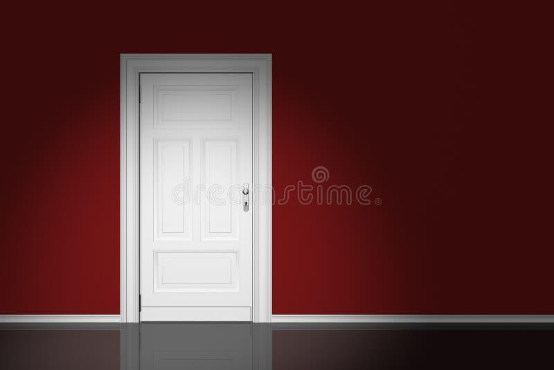 Download Door stock image. Image of render, white, room, loophole - 16529093