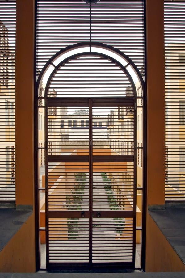 Through The Door Stock Image