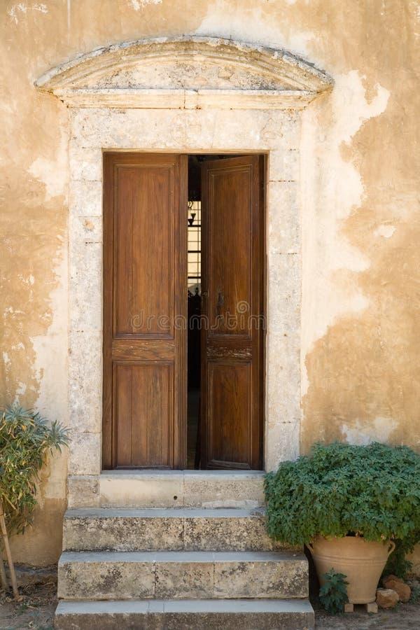 Download Door stock photo. Image of ancient, entrance, rustic, pots - 3032330