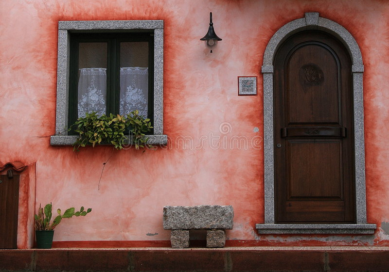 Download The door stock photo. Image of colored, typical, door - 7123230