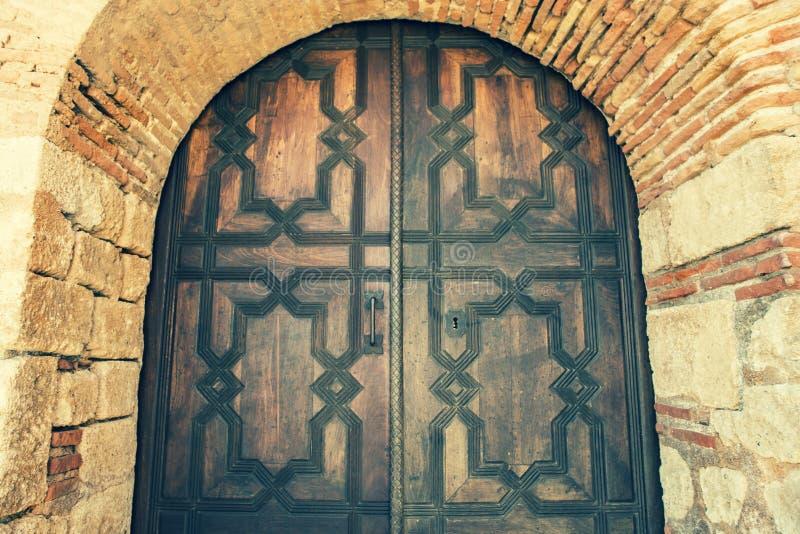Door in Alcazaba castle, Almeria. Spain royalty free stock image