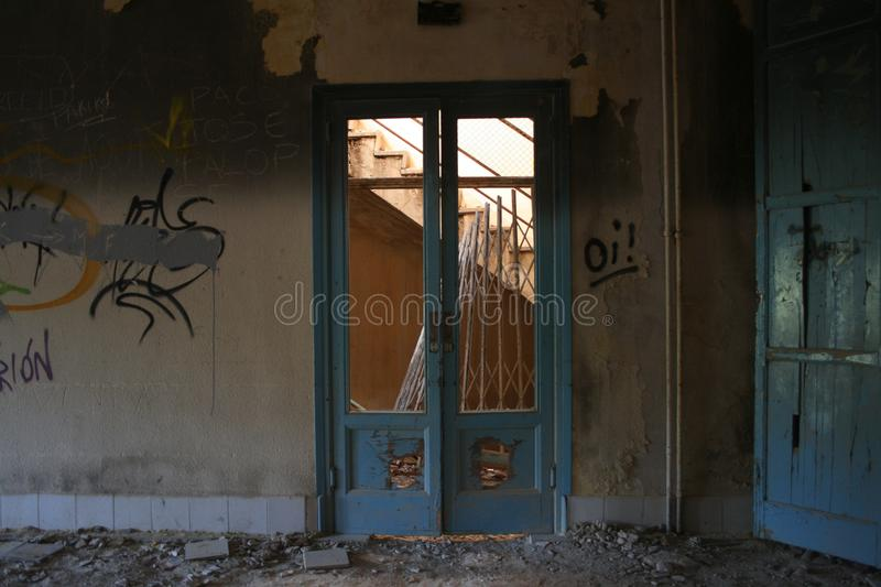 DOOR TO DECADENCE. This door, already, only leads to decadence royalty free stock photos