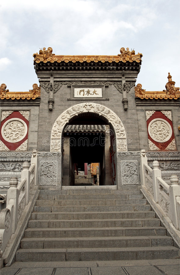 Download Door Of The Ancient Temple. Stock Image - Image: 5240903
