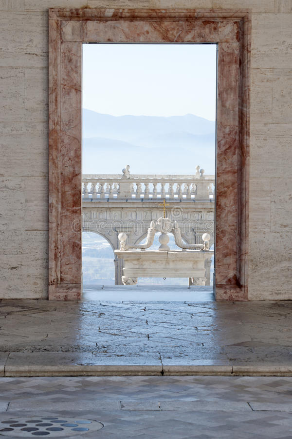 Download Door on the balcony stock image. Image of friar, holy - 23135305