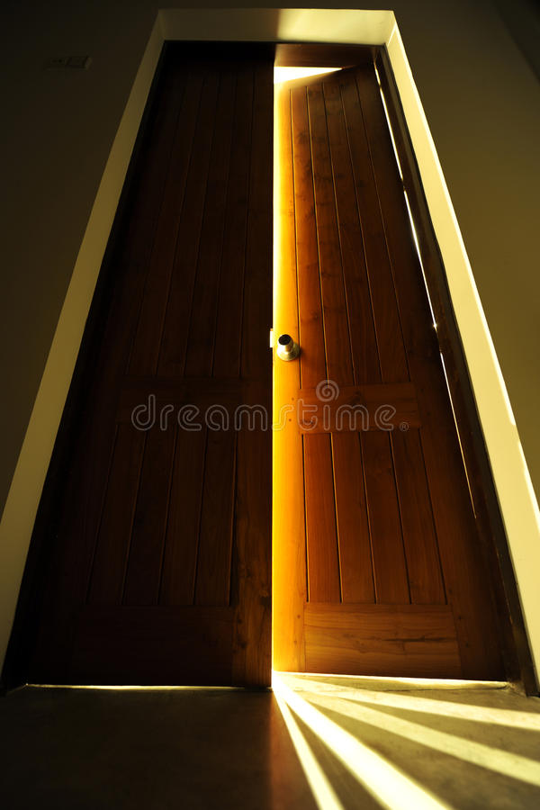 Download Door with bright light stock photo. Image of back, chance - 13721316