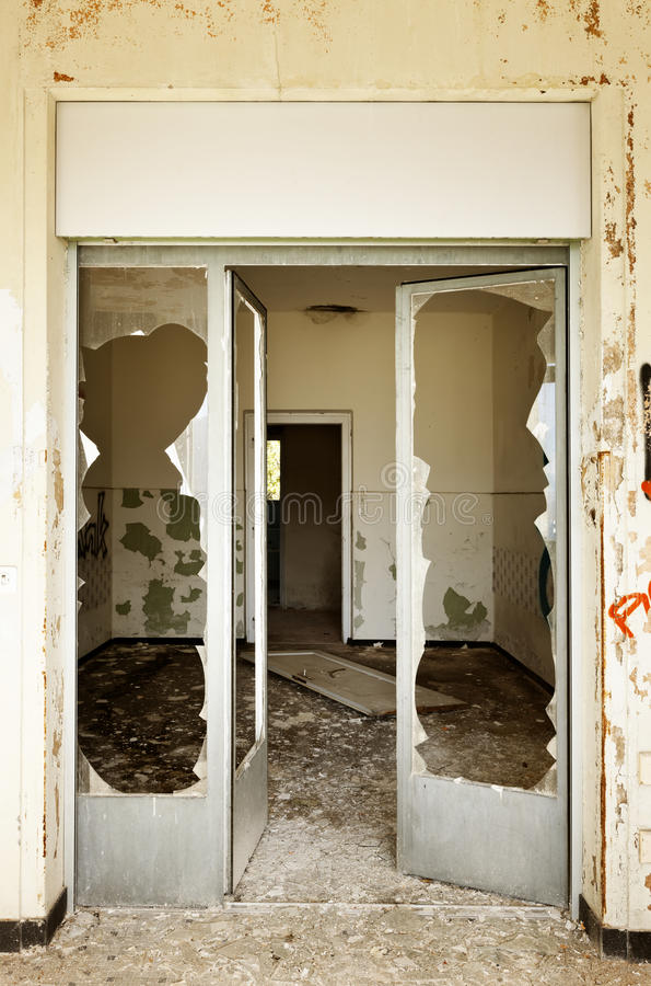 Download Door broken stock image. Image of glass dark building - 27703815 & Door broken stock image. Image of glass dark building - 27703815