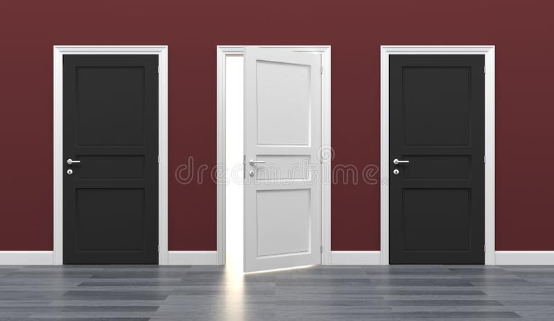 Door business destination opportunity exit different royalty free stock images