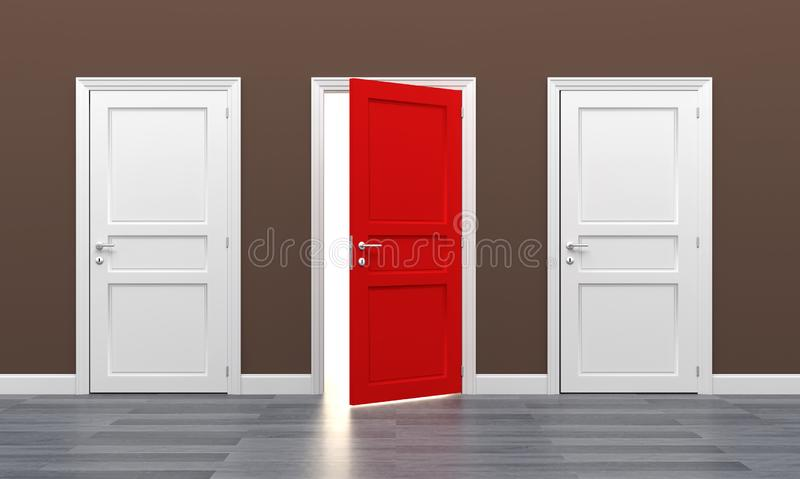 Door business destination opportunity exit different royalty free stock photo