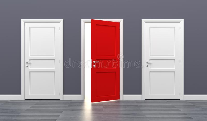 Door business destination opportunity exit different royalty free stock image