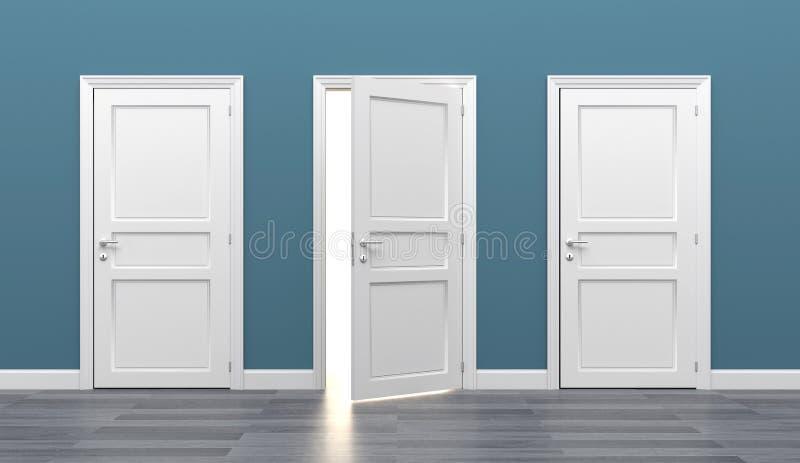 Door business destination opportunity exit different stock photos