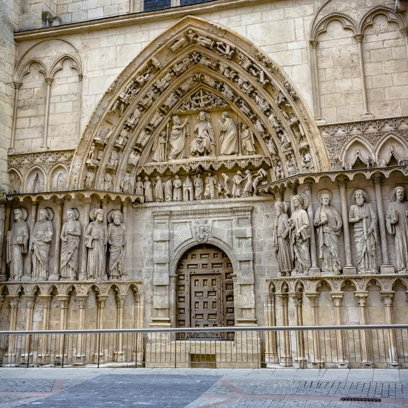 Door of the Caronería of the cathedral royalty free stock photo