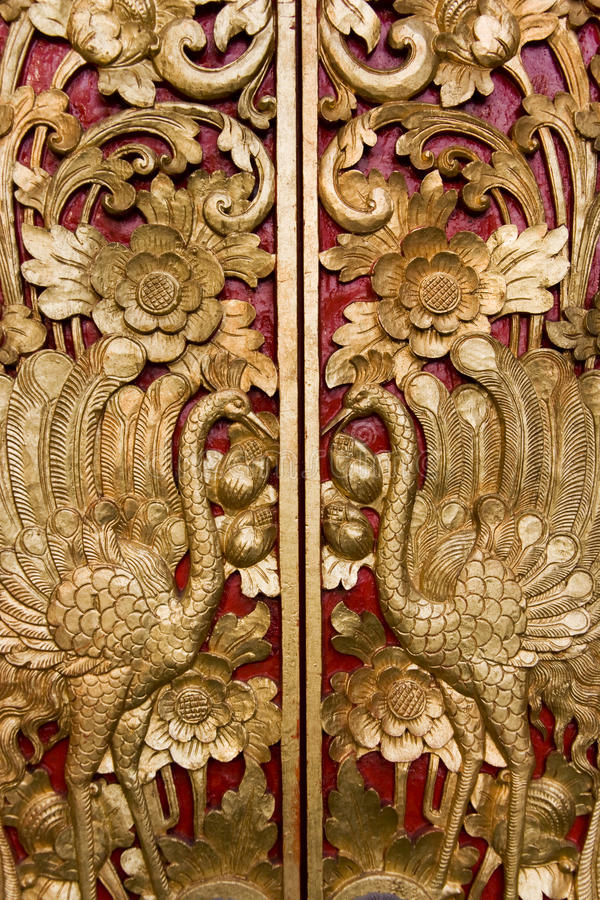 Free Door Carving At Pura Masceti, Bali, Indonesia Royalty Free Stock Image - 14287926