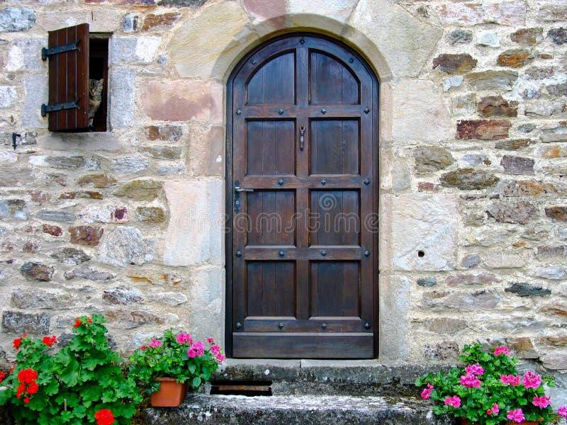 Door and cat royalty free stock photo