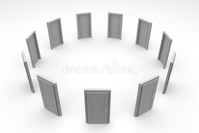 Download Door Circle - Closed Grey Door Stock Illustration - Image: 12207838