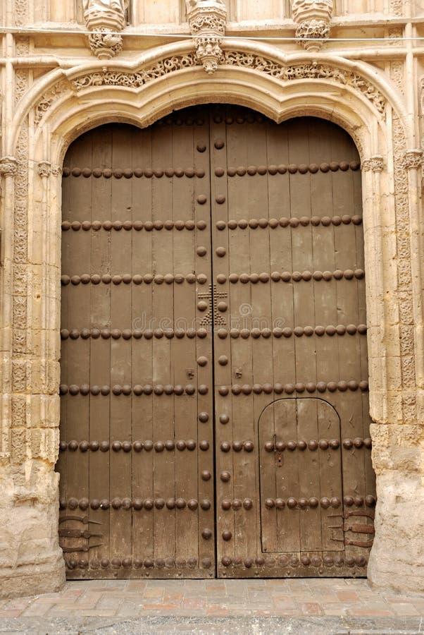 Door in Cordova, Spain. Door of the Mezquita in Cordova, Spain stock photo