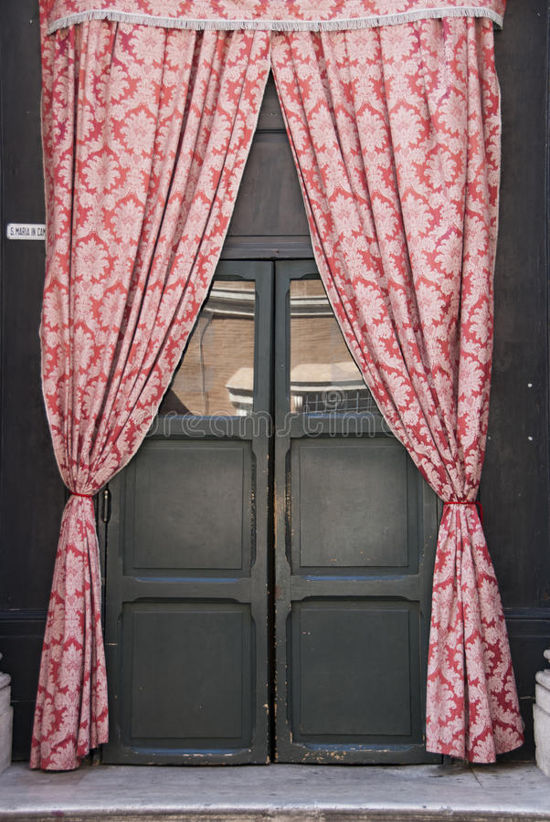 Door curtains royalty free stock photos