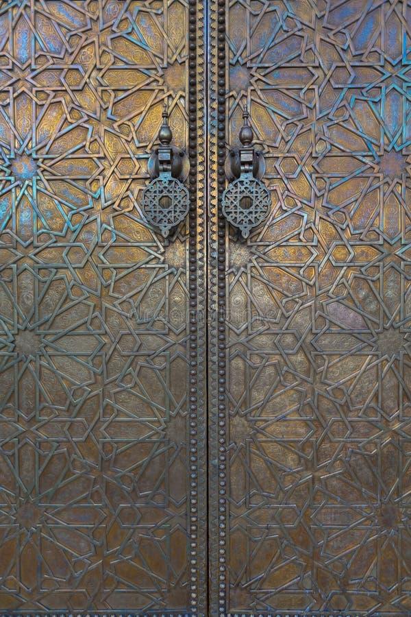 Door at Dar El Makhzen, Morocco stock image