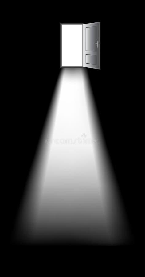 Download Door in darkness stock illustration. Image of darkness - 23039213
