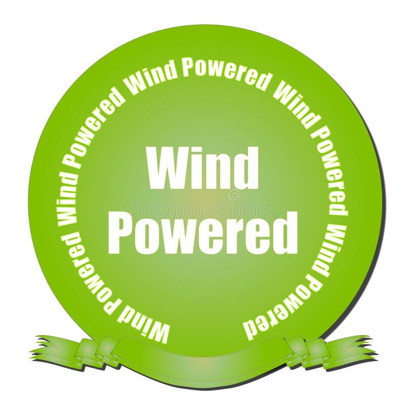 Door de wind aangedreven Verbinding stock illustratie