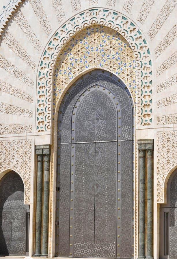 Door Design At Hassan II Mosque,Casablanca Stock Photo ...