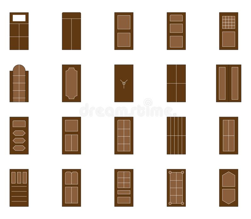 PrintIllustration of doors with various variations Can be used on the web and mobile. Door design with various variations Can be used on the web and mobile stock illustration
