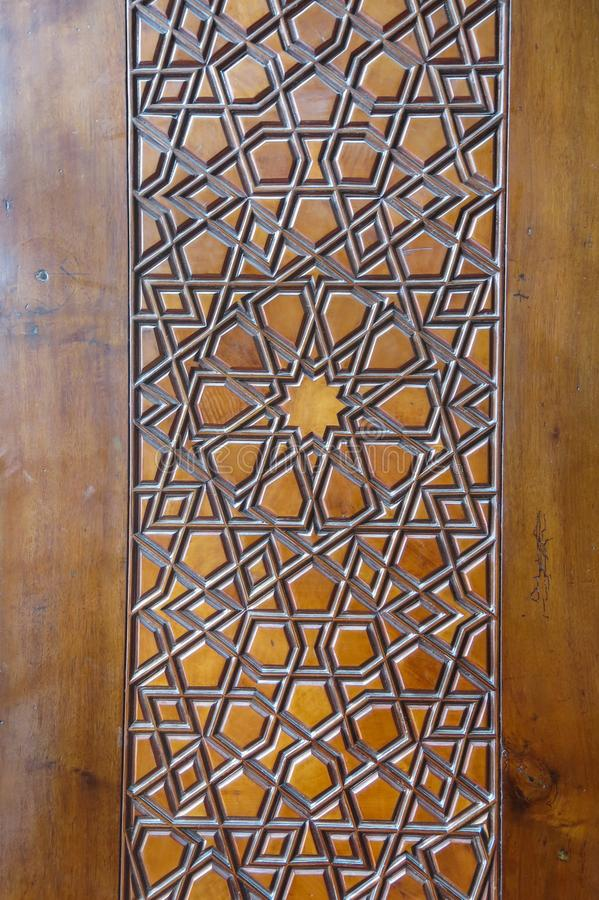 Door detail of The Blue Mosque, Istanbul, Turkey stock photography