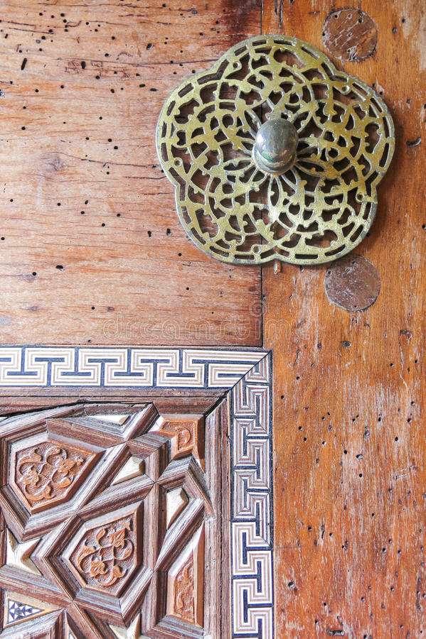 Door detail of Suleymaniye Mosque, Istanbul, Turkey stock images