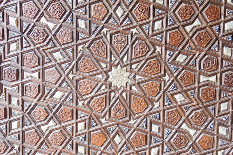 Door detail of Suleymaniye Mosque, Istanbul, Turkey royalty free stock photography